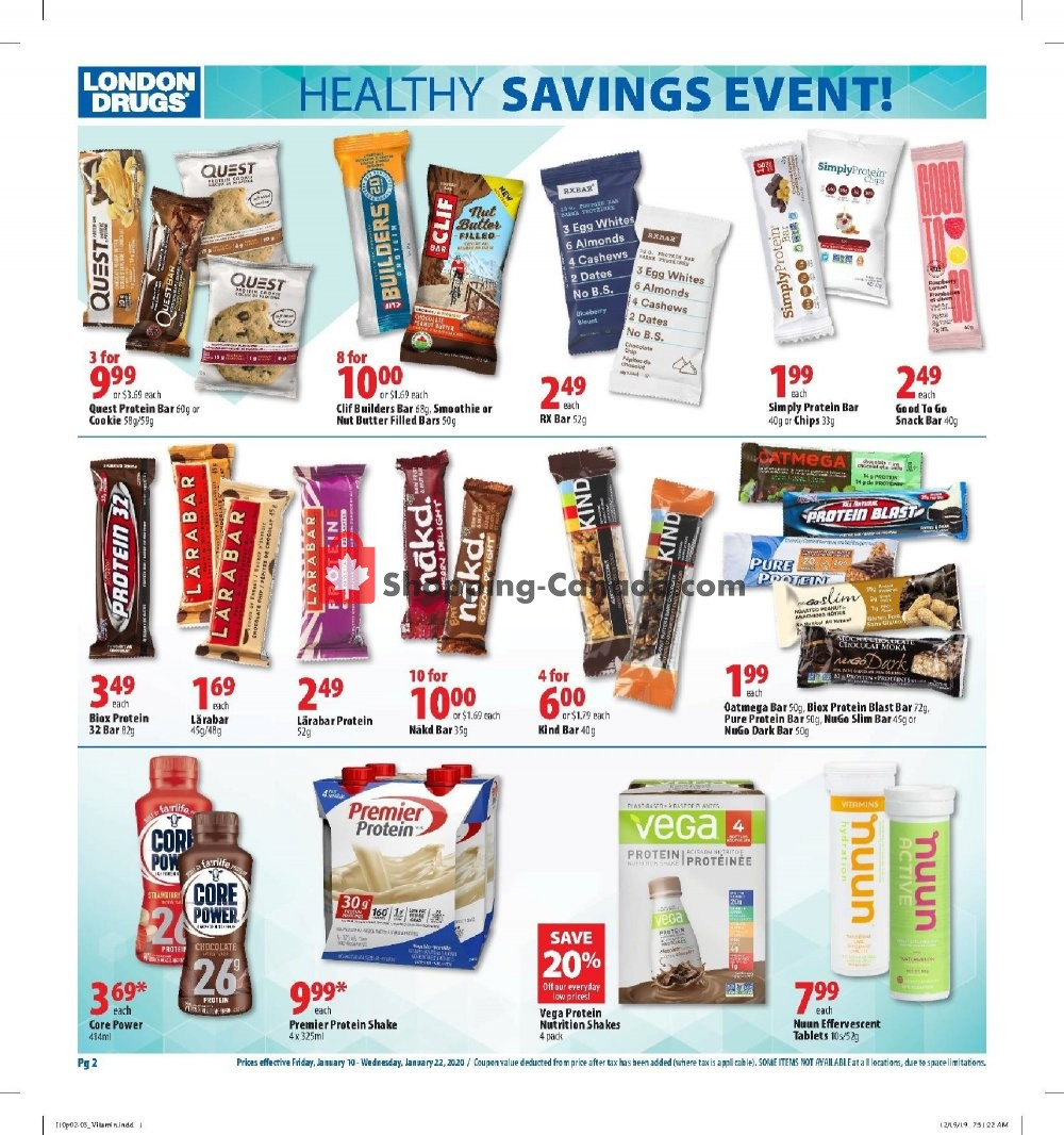Flyer London Drugs Canada - from Friday January 10, 2020 to Wednesday January 22, 2020