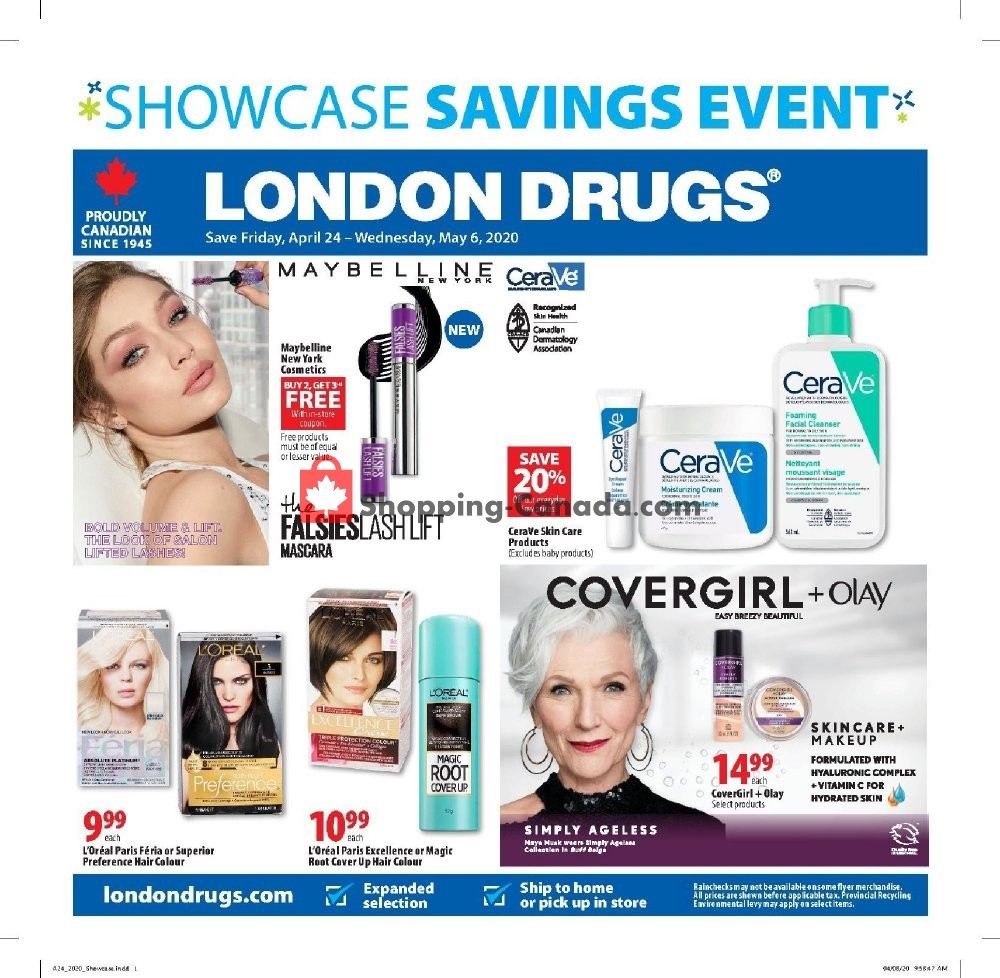 Flyer London Drugs Canada - from Friday April 24, 2020 to Wednesday May 6, 2020
