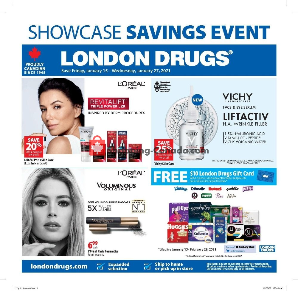 Flyer London Drugs Canada - from Friday January 15, 2021 to Wednesday January 27, 2021