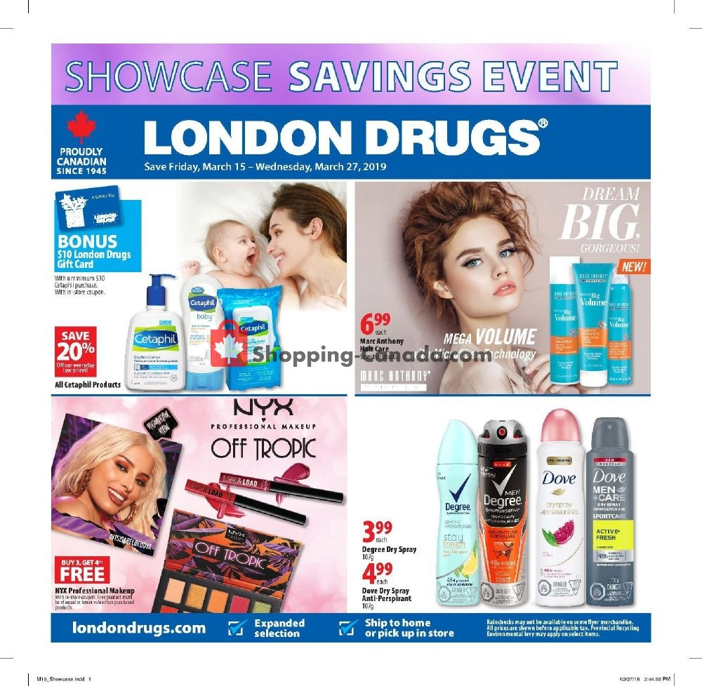 Flyer London Drugs Canada - from Friday March 15, 2019 to Wednesday March 27, 2019