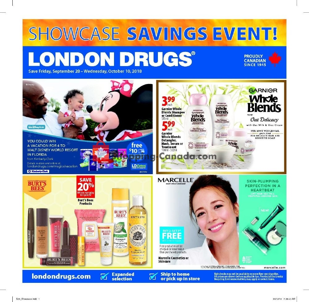 Flyer London Drugs Canada - from Friday September 28, 2018 to Wednesday October 10, 2018