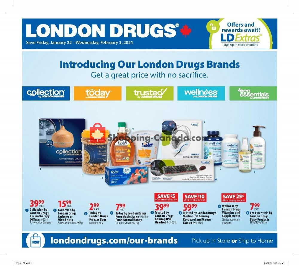 Flyer London Drugs Canada - from Friday January 22, 2021 to Wednesday February 3, 2021