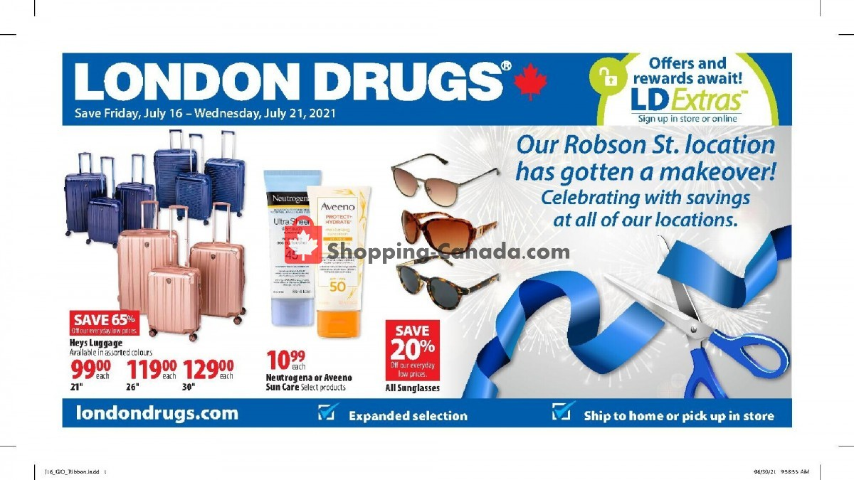 Flyer London Drugs Canada - from Friday July 16, 2021 to Wednesday July 21, 2021