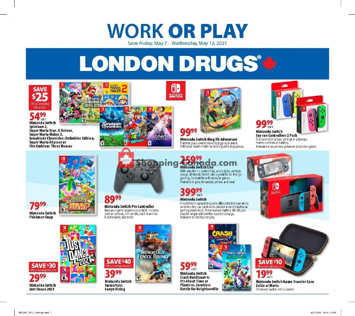 Flyer London Drugs Canada - from Friday May 7, 2021 to Wednesday May 12, 2021
