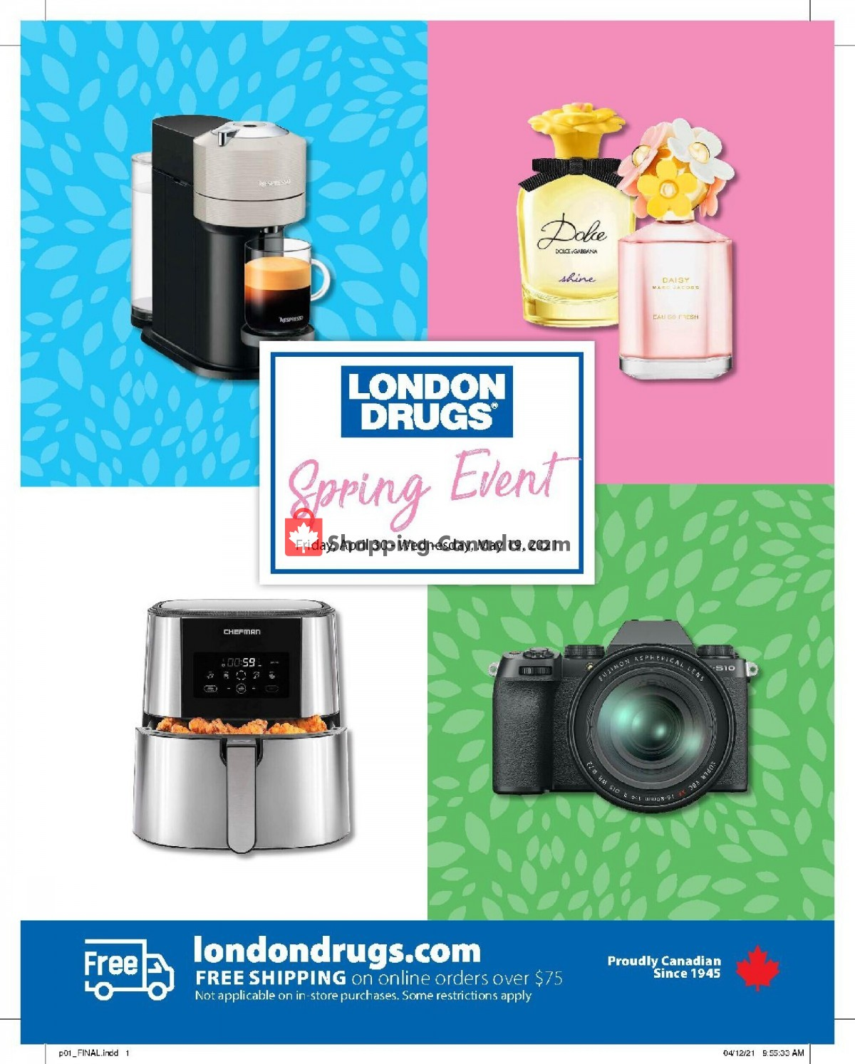Flyer London Drugs Canada - from Friday April 30, 2021 to Wednesday May 19, 2021