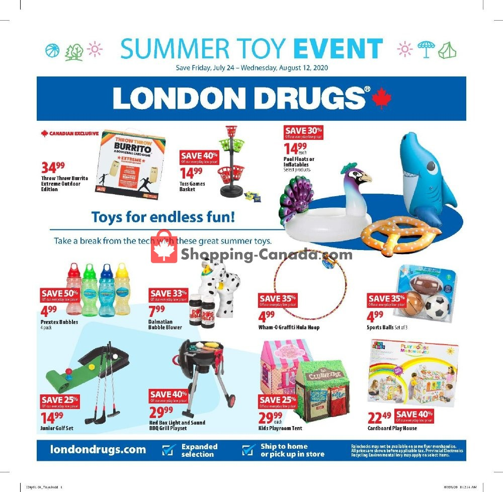 Flyer London Drugs Canada - from Friday July 24, 2020 to Wednesday August 12, 2020