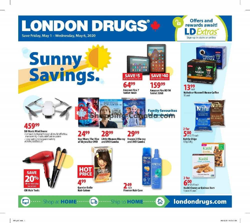 Flyer London Drugs Canada - from Friday May 1, 2020 to Wednesday May 6, 2020