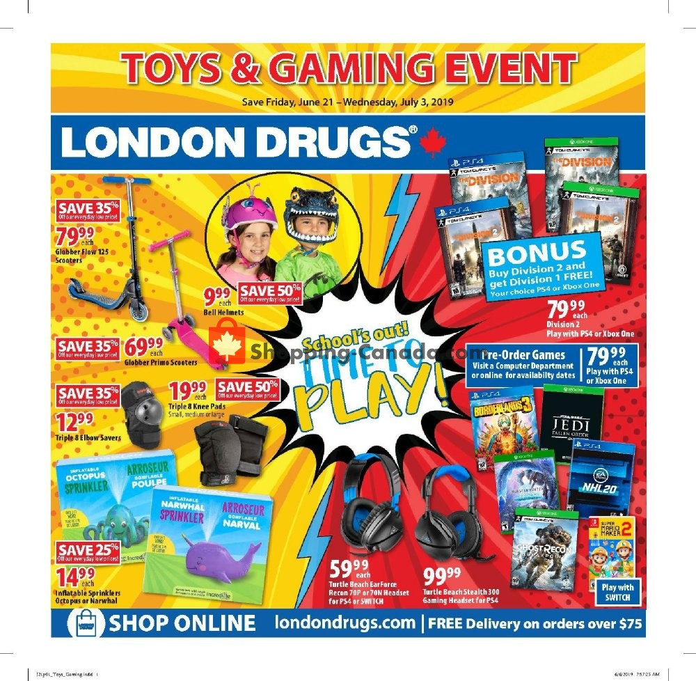Flyer London Drugs Canada - from Friday June 21, 2019 to Wednesday July 3, 2019