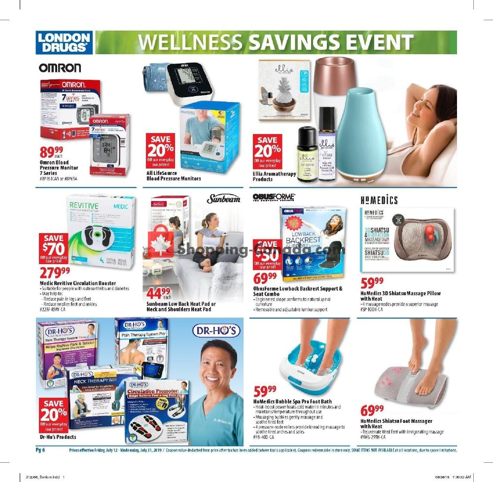 Flyer London Drugs Canada - from Friday July 12, 2019 to Wednesday July 31, 2019