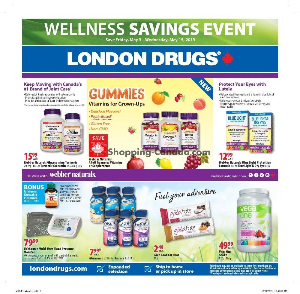 Flyer London Drugs Canada - from Friday May 3, 2019 to Wednesday May 15, 2019