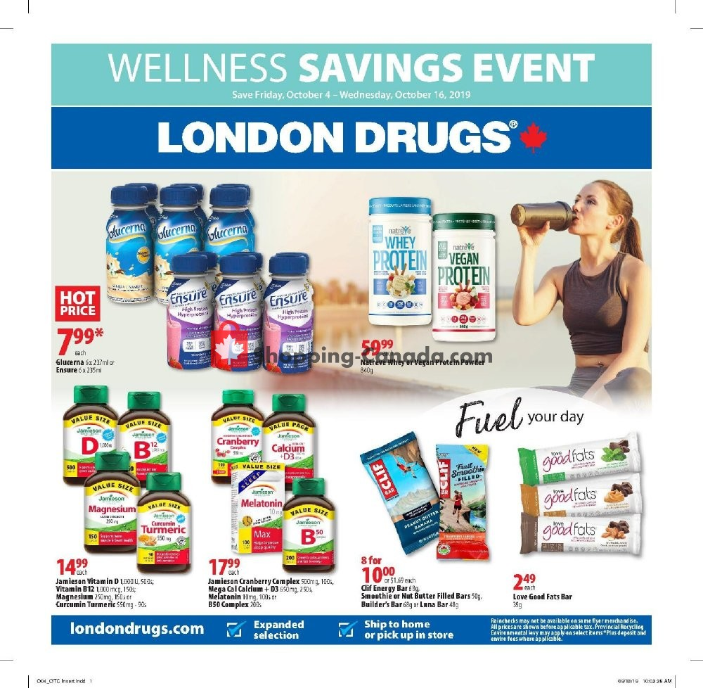 Flyer London Drugs Canada - from Friday October 4, 2019 to Wednesday October 16, 2019