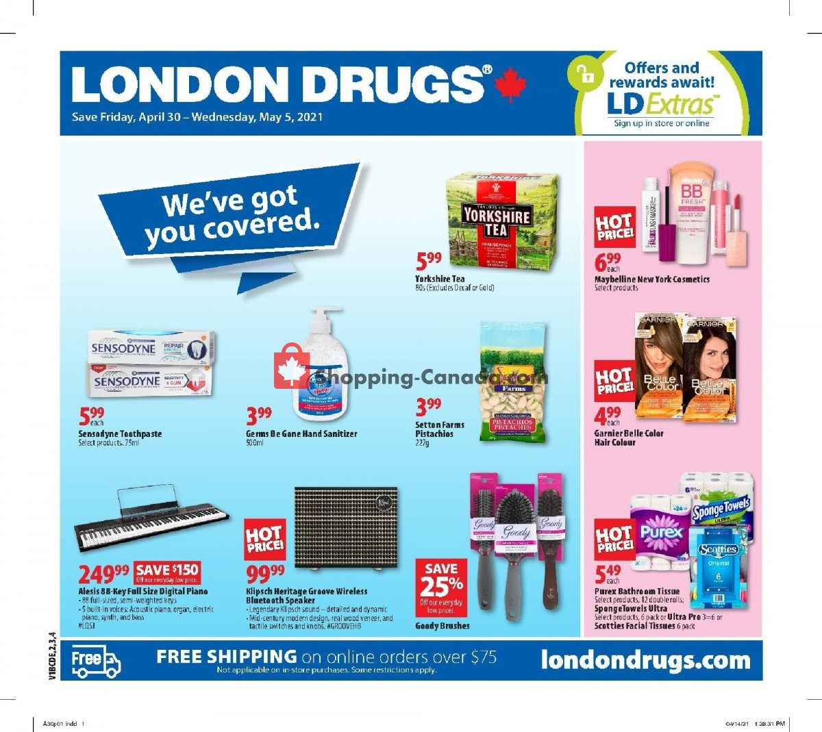 Flyer London Drugs Canada - from Friday April 30, 2021 to Wednesday May 5, 2021