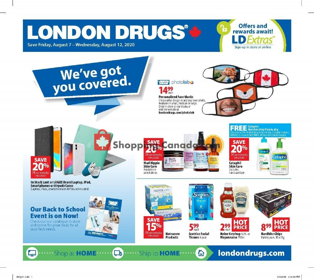 Flyer London Drugs Canada - from Friday August 7, 2020 to Wednesday August 12, 2020
