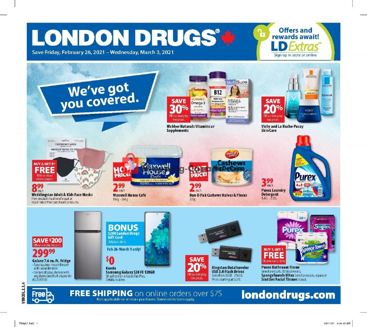 Flyer London Drugs Canada - from Friday February 26, 2021 to Wednesday March 3, 2021