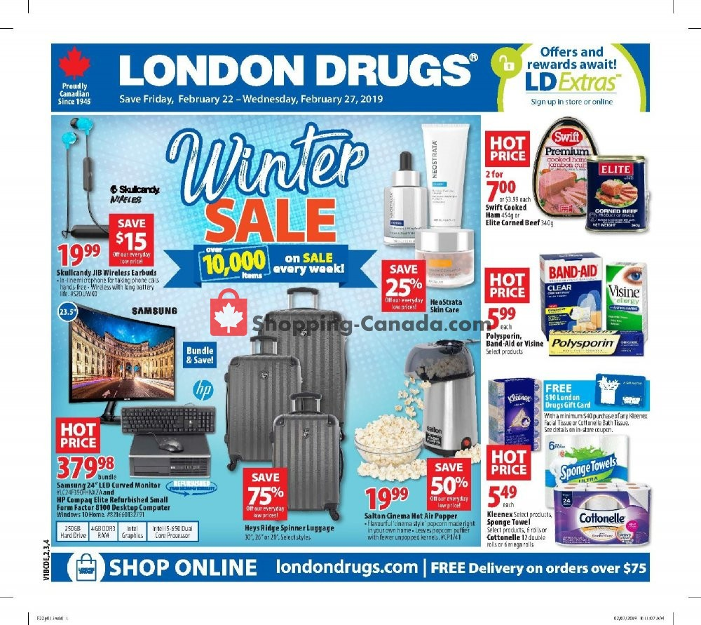 Flyer London Drugs Canada - from Friday February 22, 2019 to Wednesday February 27, 2019