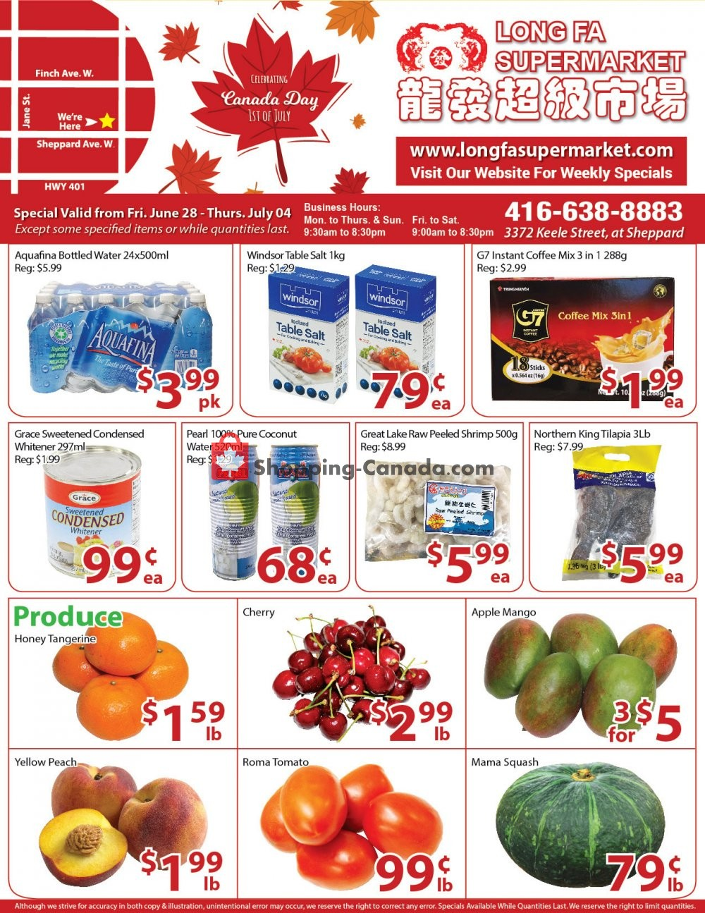 Flyer Long Fa Supermarket Canada - from Friday June 28, 2019 to Thursday July 4, 2019