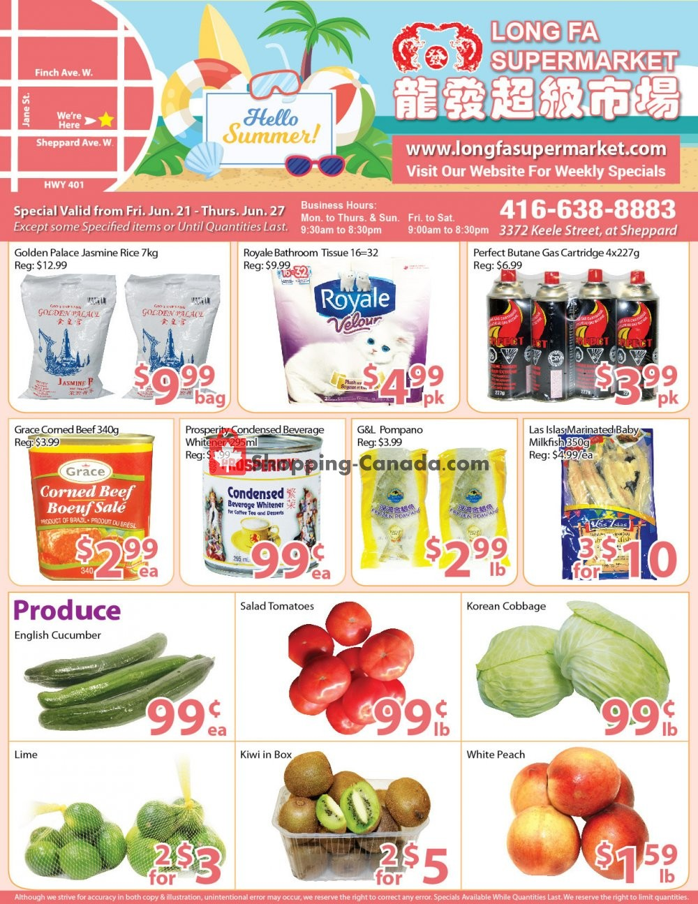 Flyer Long Fa Supermarket Canada - from Friday June 21, 2019 to Thursday June 27, 2019