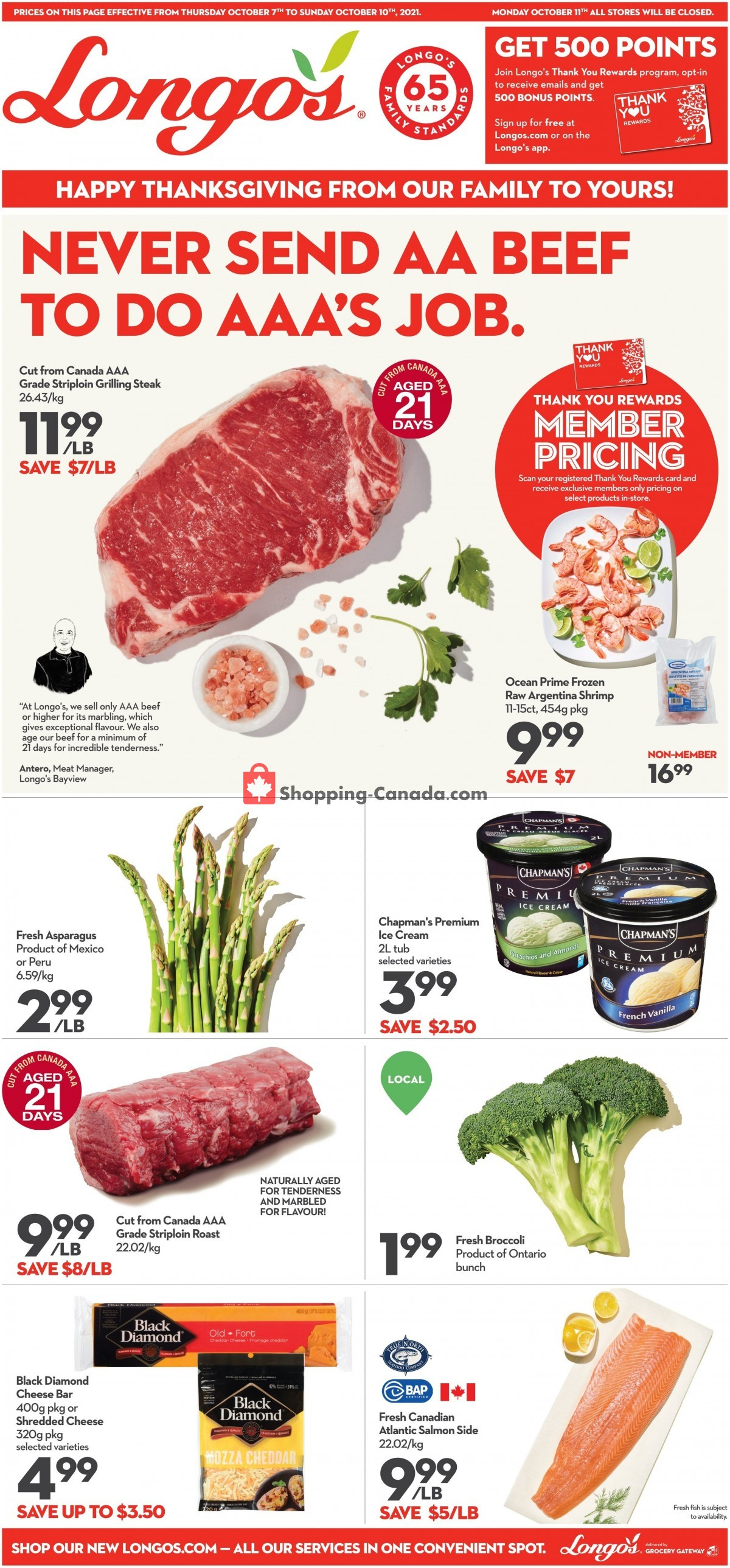 Flyer Longo's Canada - from Thursday October 7, 2021 to Sunday October 10, 2021