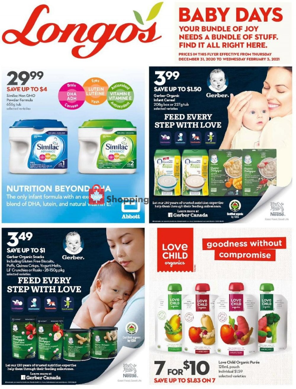 Flyer Longo's Canada - from Thursday December 31, 2020 to Wednesday February 3, 2021