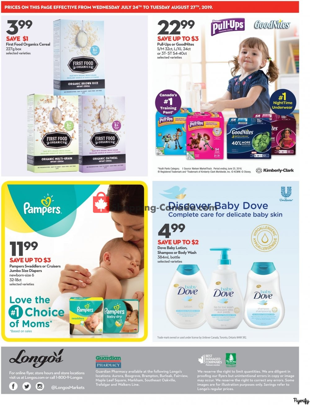 Flyer Longo's Canada - from Wednesday July 24, 2019 to Tuesday August 27, 2019