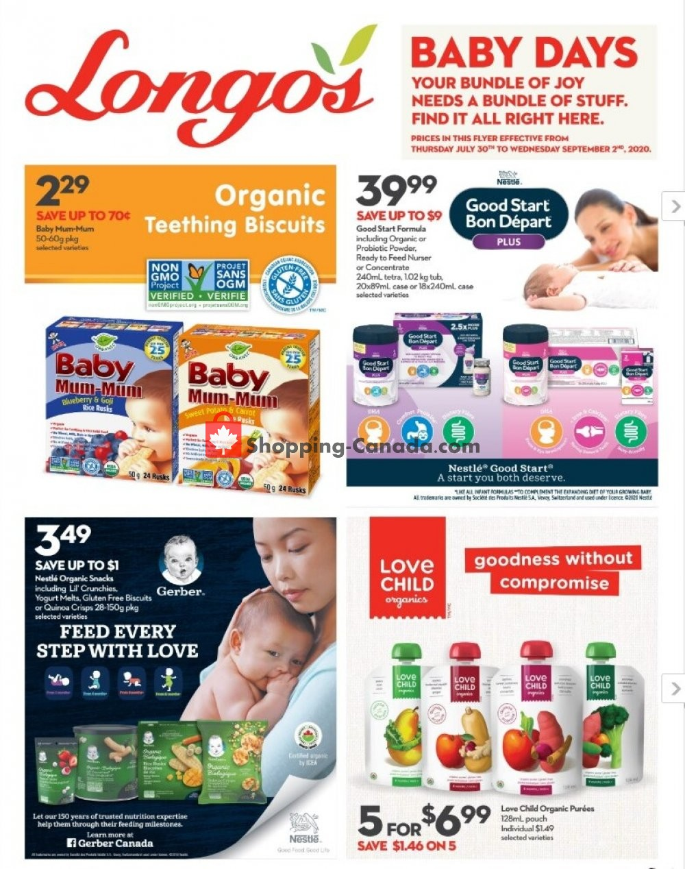Flyer Longo's Canada - from Thursday July 30, 2020 to Wednesday September 2, 2020