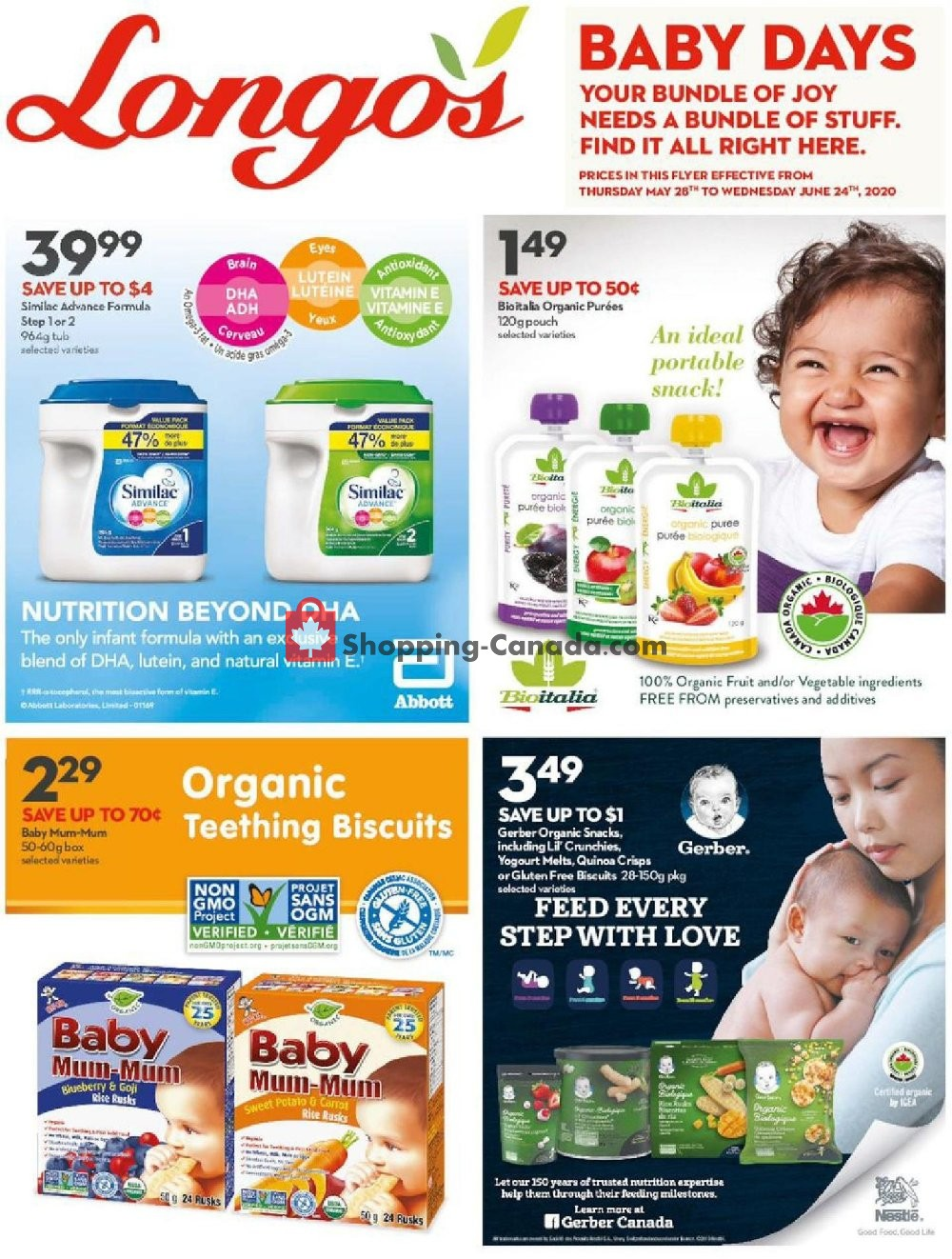 Flyer Longo's Canada - from Thursday May 28, 2020 to Wednesday June 24, 2020