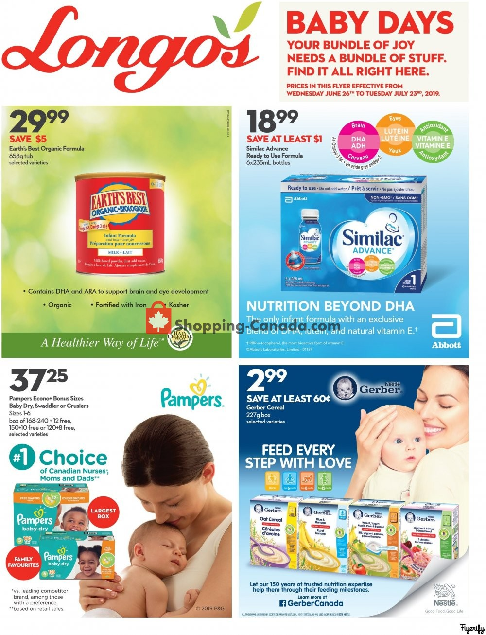 Flyer Longo's Canada - from Wednesday June 26, 2019 to Tuesday July 23, 2019