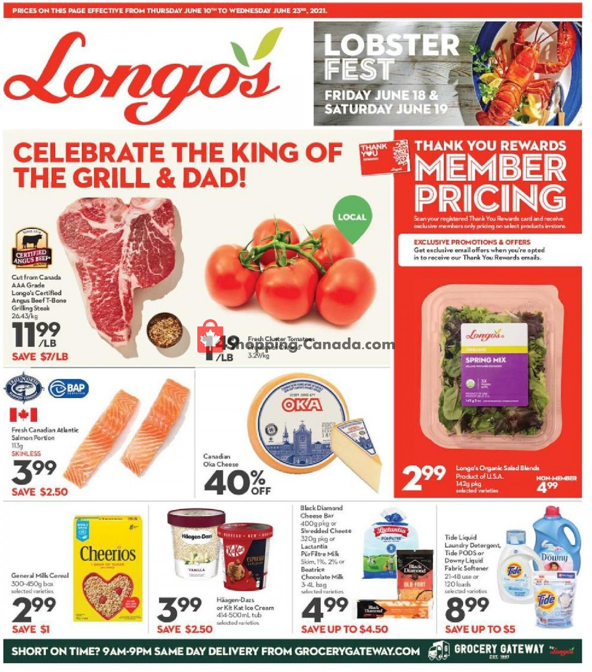 Flyer Longo's Canada - from Thursday June 10, 2021 to Wednesday June 23, 2021