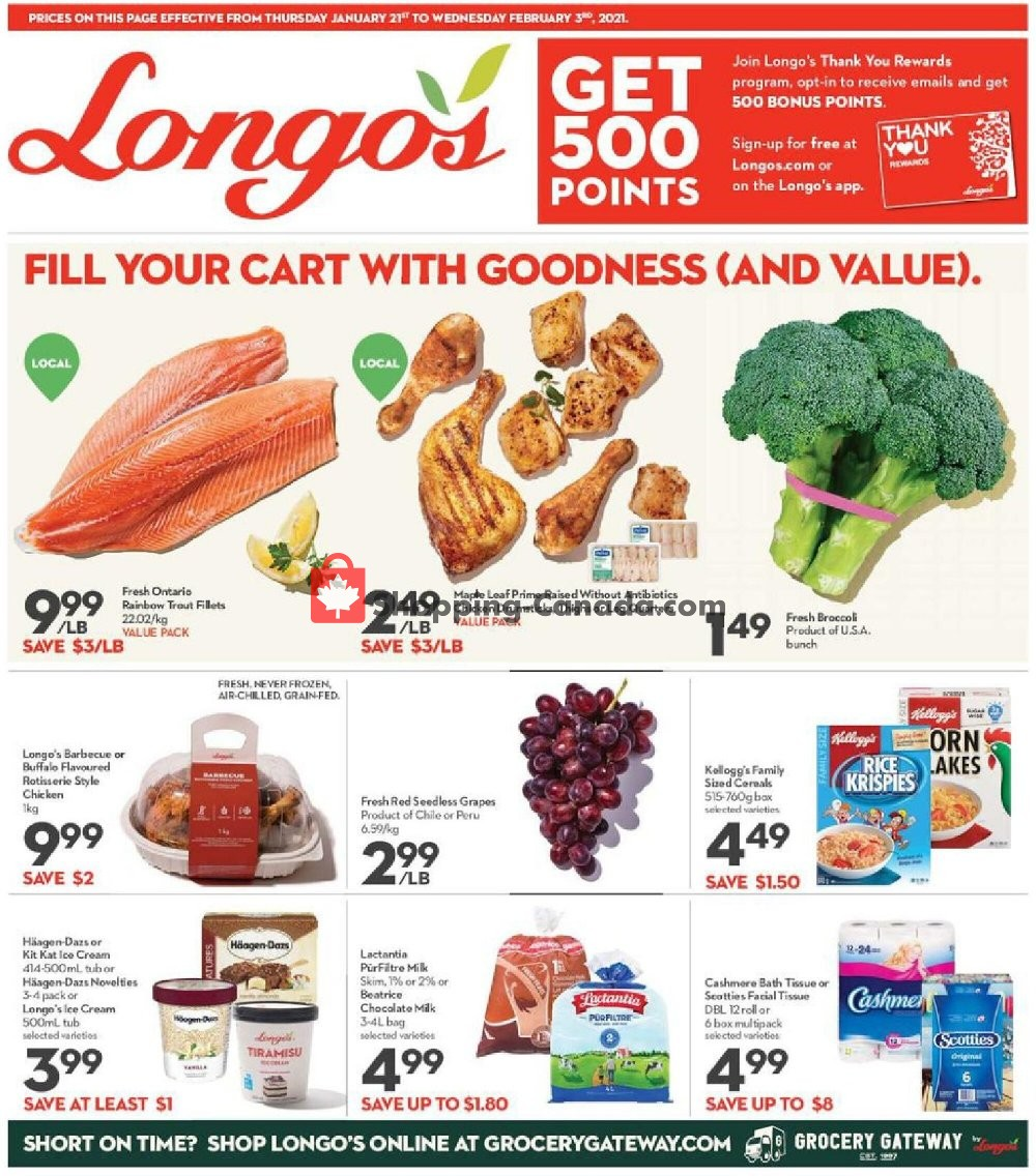 Flyer Longo's Canada - from Thursday January 21, 2021 to Wednesday February 3, 2021