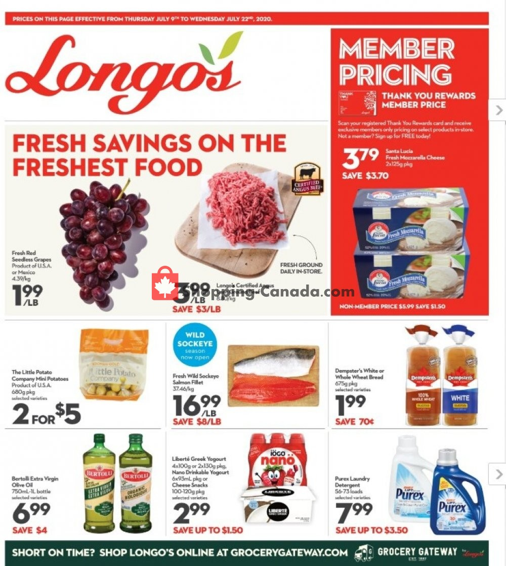 Flyer Longo's Canada - from Thursday July 9, 2020 to Wednesday July 22, 2020