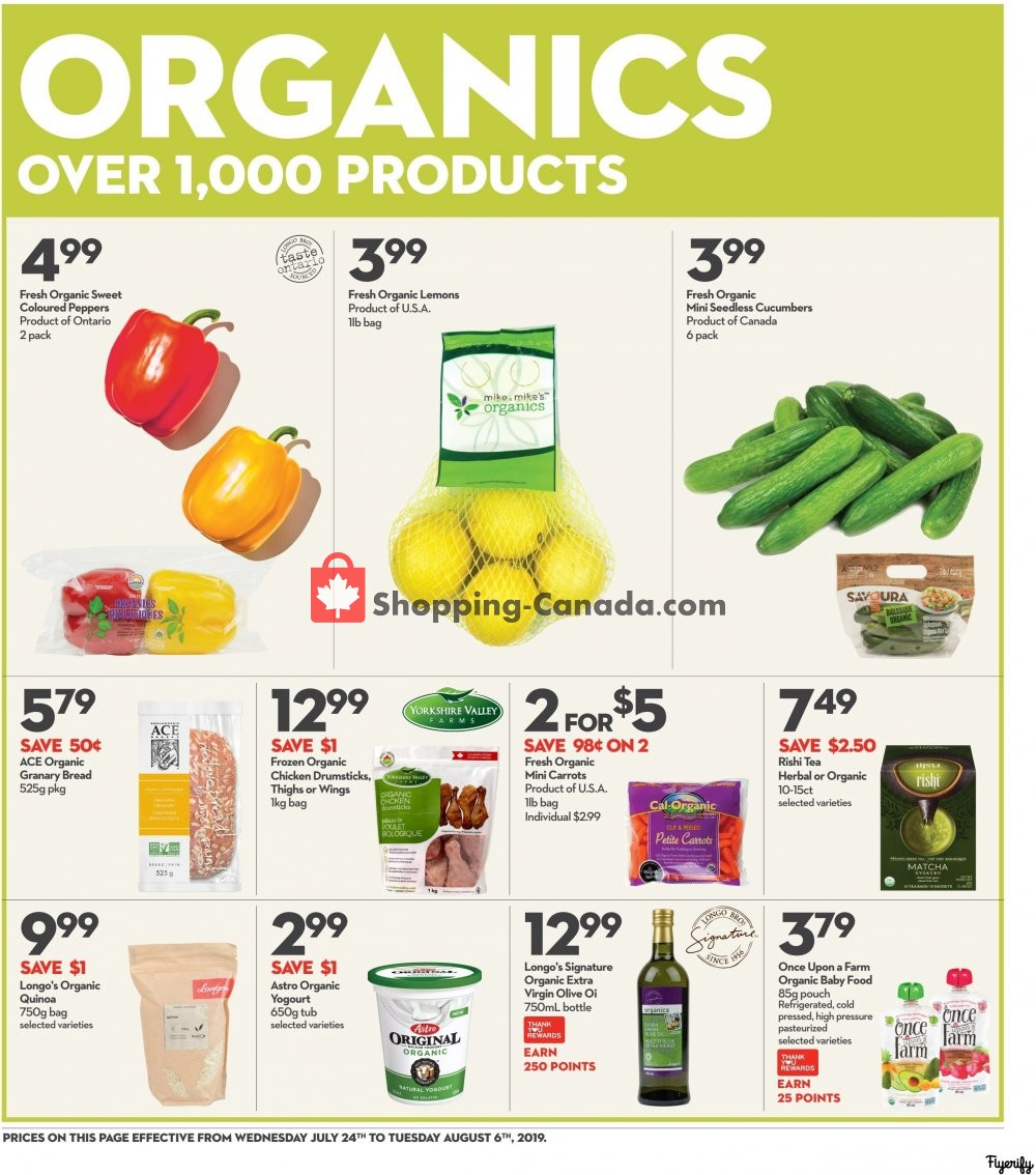 Flyer Longo's Canada - from Wednesday July 24, 2019 to Tuesday August 6, 2019
