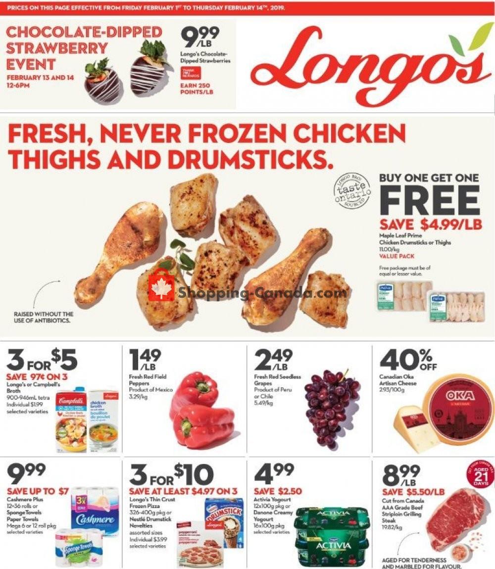 Flyer Longo's Canada - from Friday February 1, 2019 to Thursday February 14, 2019