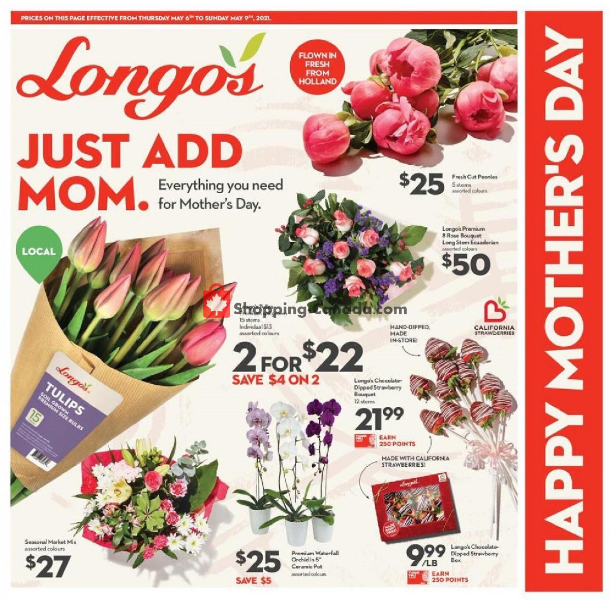 Flyer Longo's Canada - from Thursday May 6, 2021 to Sunday May 9, 2021
