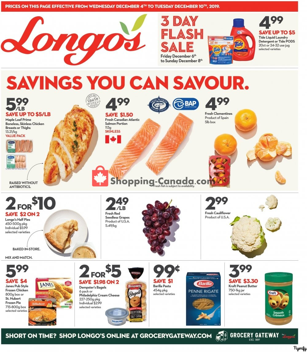 Flyer Longo's Canada - from Wednesday December 4, 2019 to Tuesday December 10, 2019