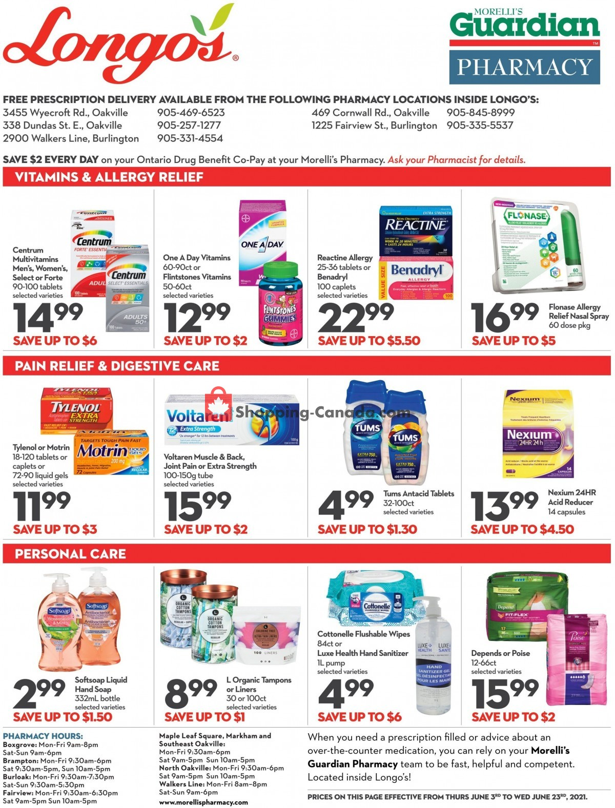 Flyer Longo's Canada - from Thursday June 3, 2021 to Wednesday June 23, 2021