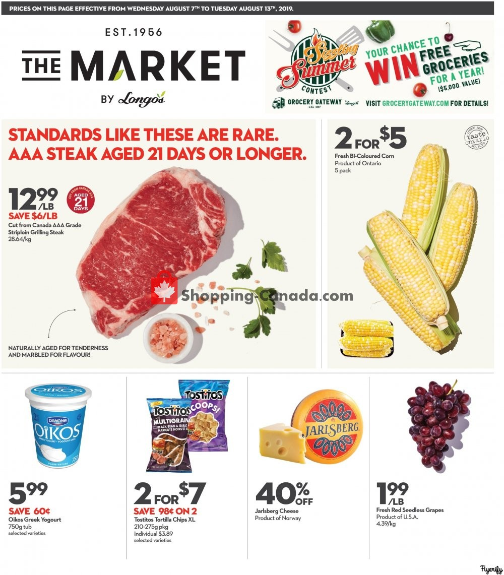 Flyer Longo's Canada - from Wednesday August 7, 2019 to Tuesday August 13, 2019