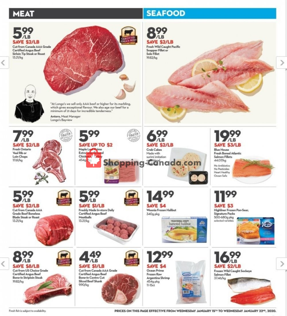 Flyer Longo's Canada - from Wednesday January 15, 2020 to Wednesday January 22, 2020