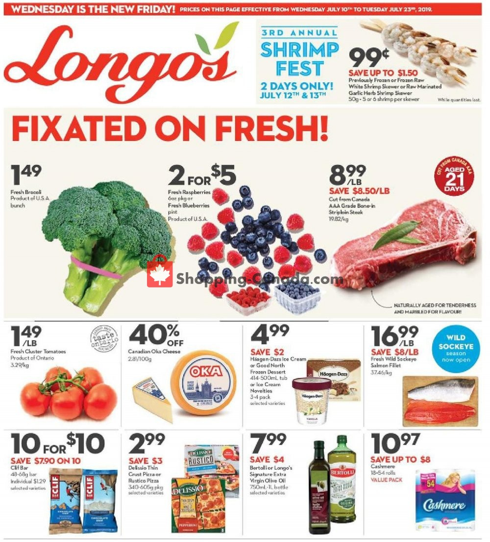Flyer Longo's Canada - from Wednesday July 10, 2019 to Tuesday July 23, 2019