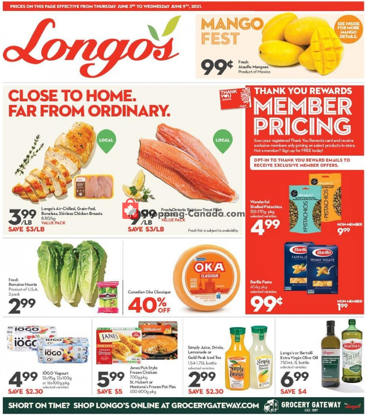 Flyer Longo's Canada - from Thursday June 3, 2021 to Wednesday June 9, 2021
