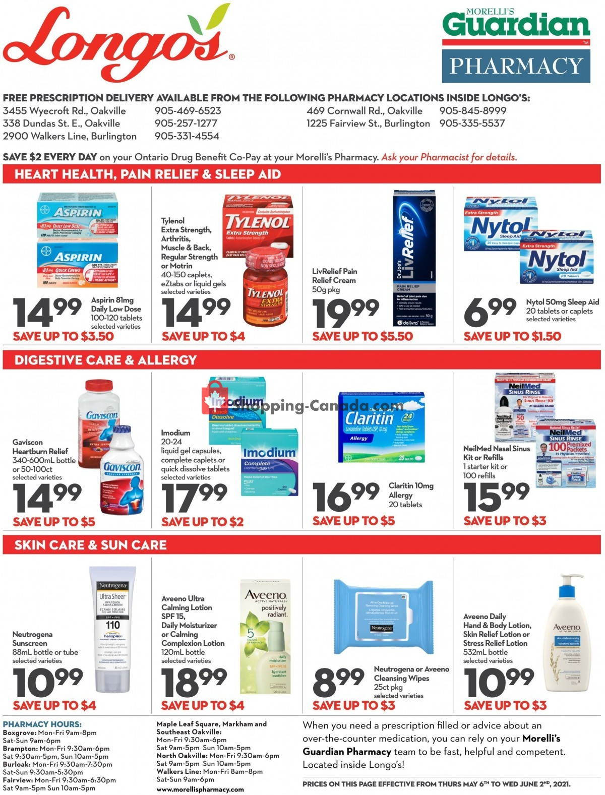 Flyer Longo's Canada - from Thursday May 6, 2021 to Wednesday June 2, 2021