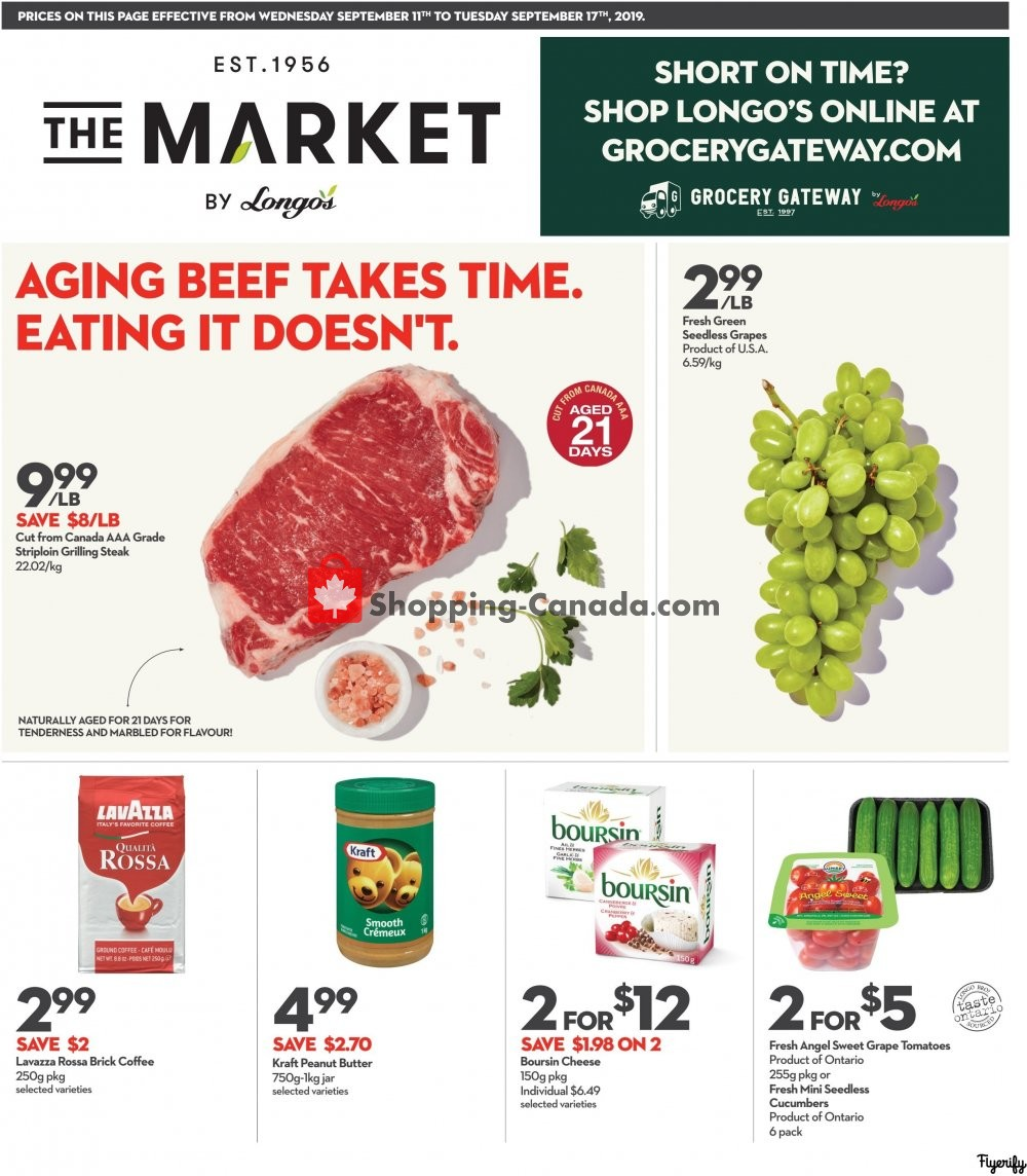 Flyer Longo's Canada - from Wednesday September 11, 2019 to Tuesday September 17, 2019