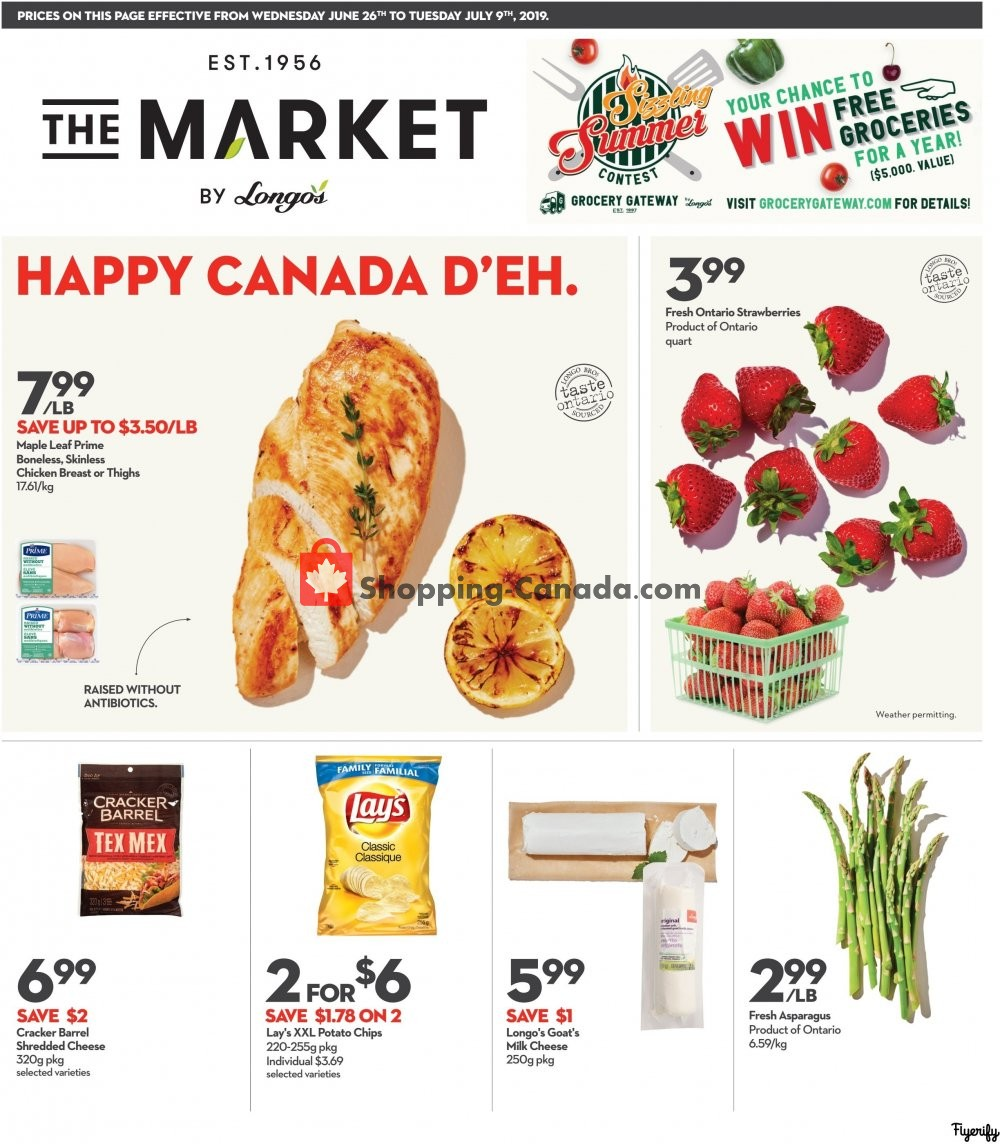Flyer Longo's Canada - from Wednesday June 26, 2019 to Tuesday July 9, 2019