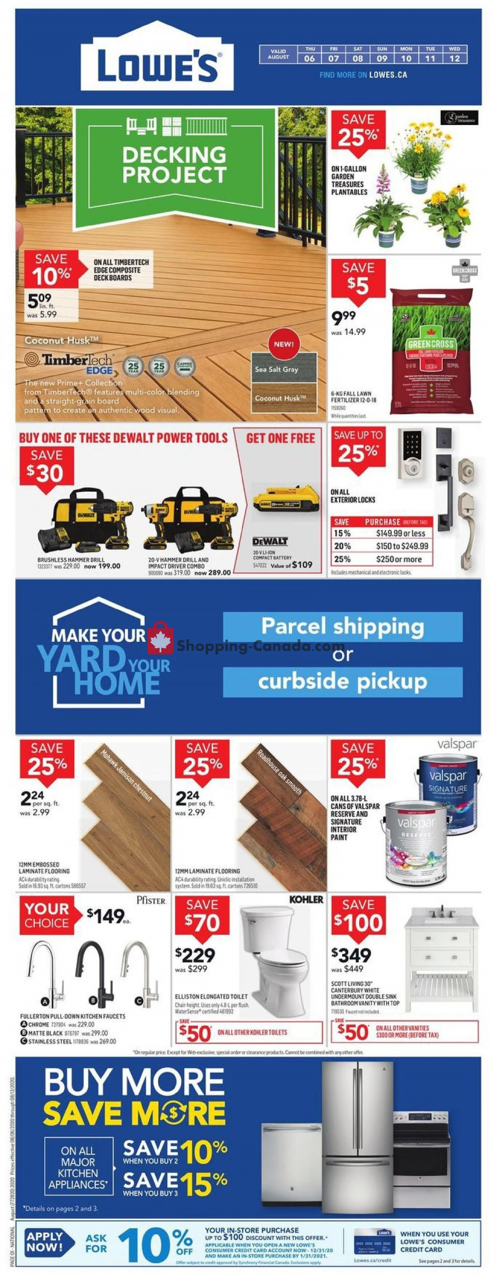 Flyer Lowe's Canada - from Thursday August 6, 2020 to Wednesday August 12, 2020