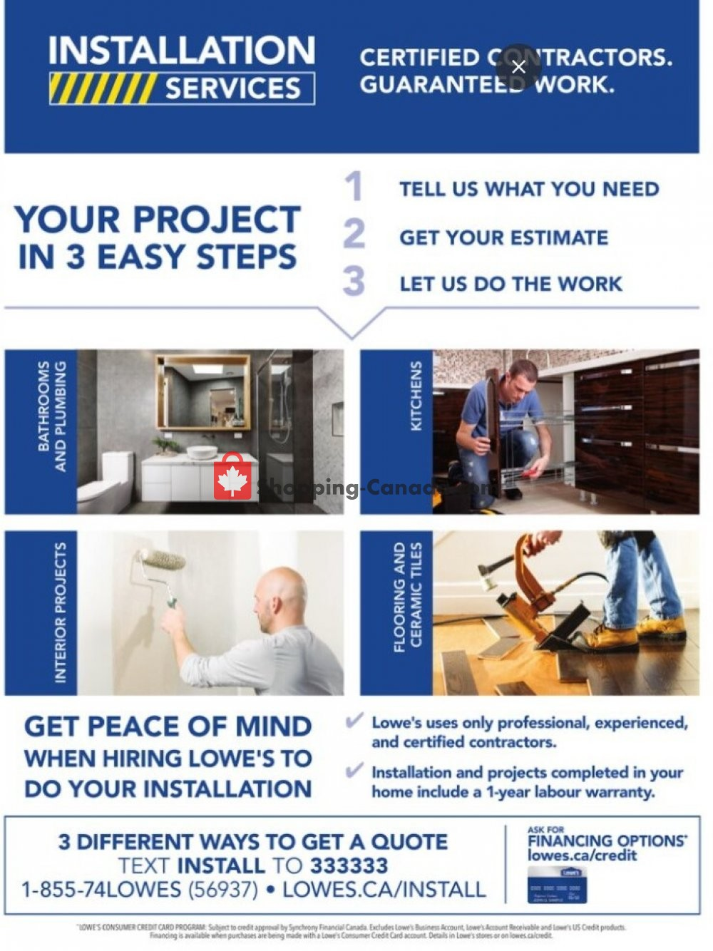 Flyer Lowe's Canada - from Thursday October 15, 2020 to Wednesday November 25, 2020