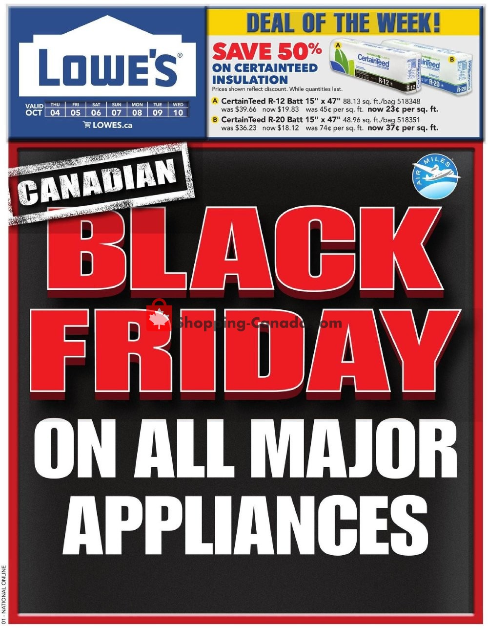 Flyer Lowe's Canada - from Thursday October 4, 2018 to Wednesday October 10, 2018
