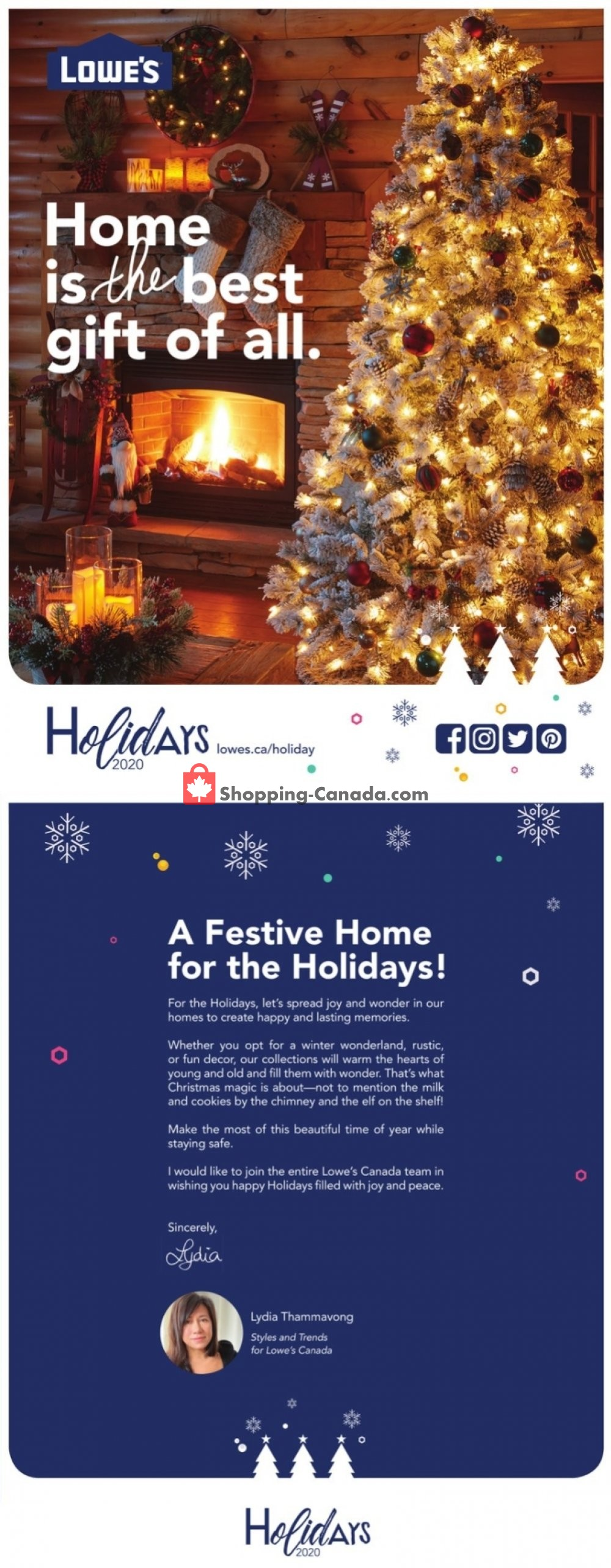 Flyer Lowe's Canada - from Thursday October 8, 2020 to Friday December 25, 2020