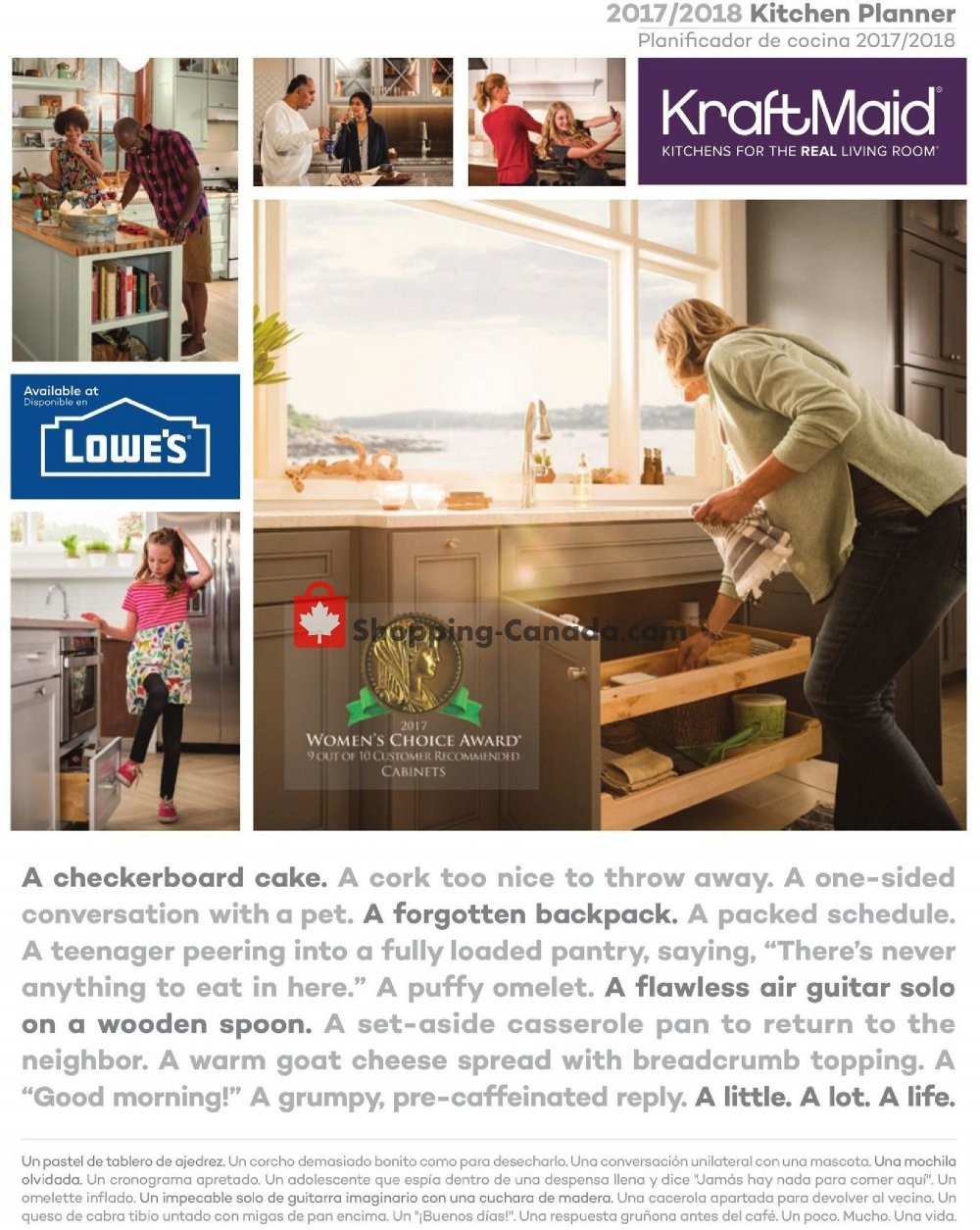 Flyer And Weekly Ads Lowe S Canada Kraft Maid From