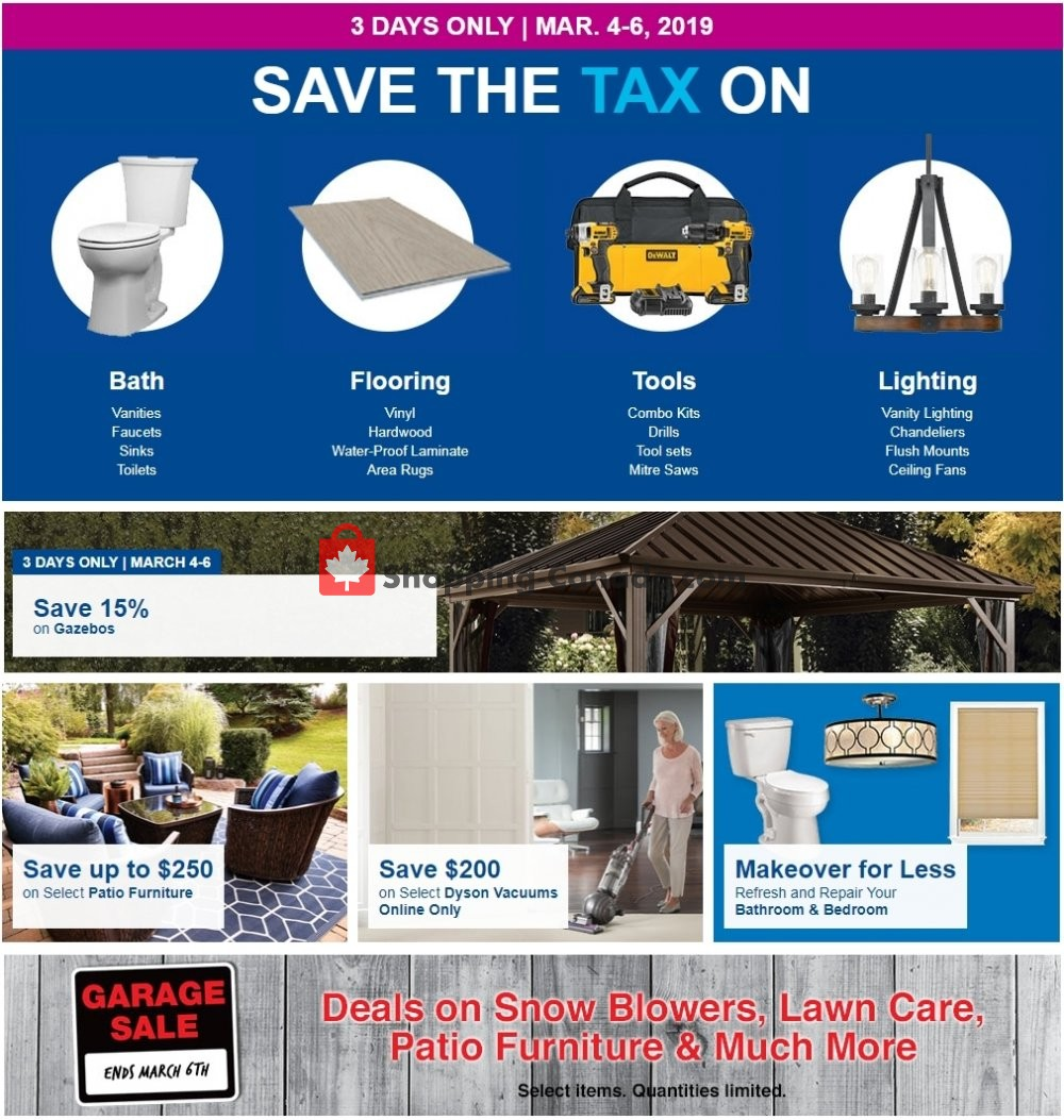 Flyer Lowe's Canada - from Monday March 4, 2019 to Wednesday March 6, 2019