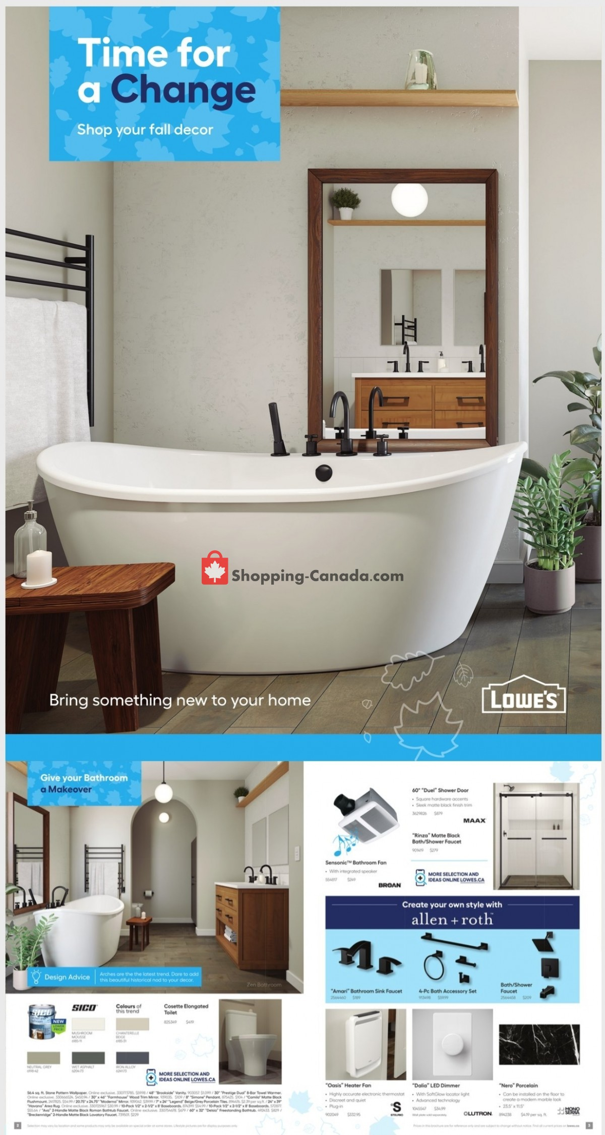 Flyer Lowe's Canada - from Friday September 3, 2021 to Wednesday October 27, 2021