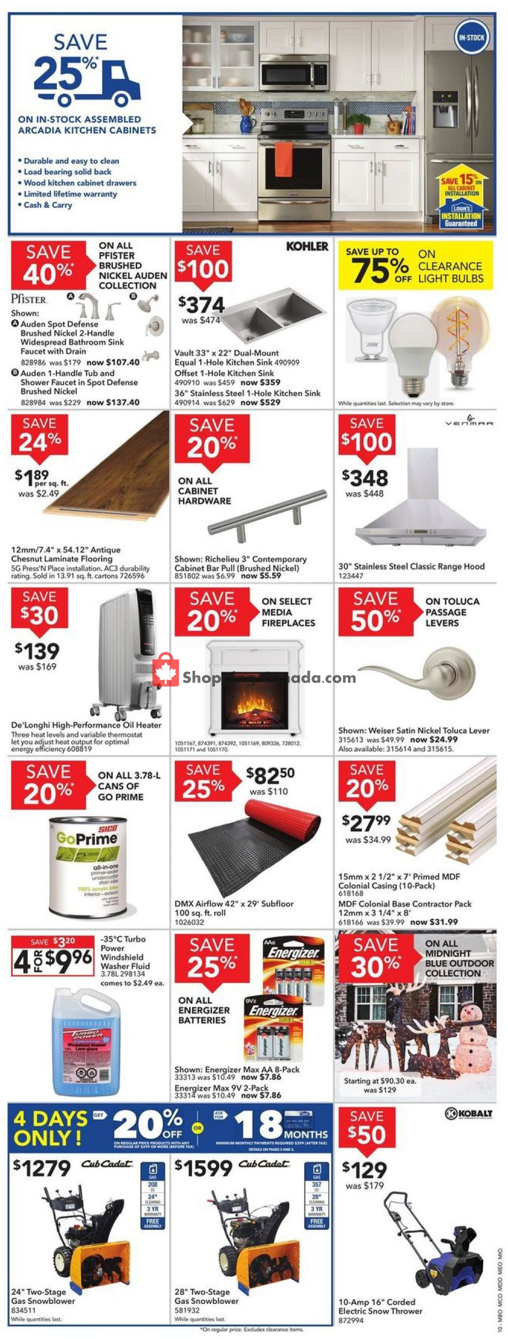 Flyer Lowe's Canada - from Thursday November 7, 2019 to Wednesday November 13, 2019
